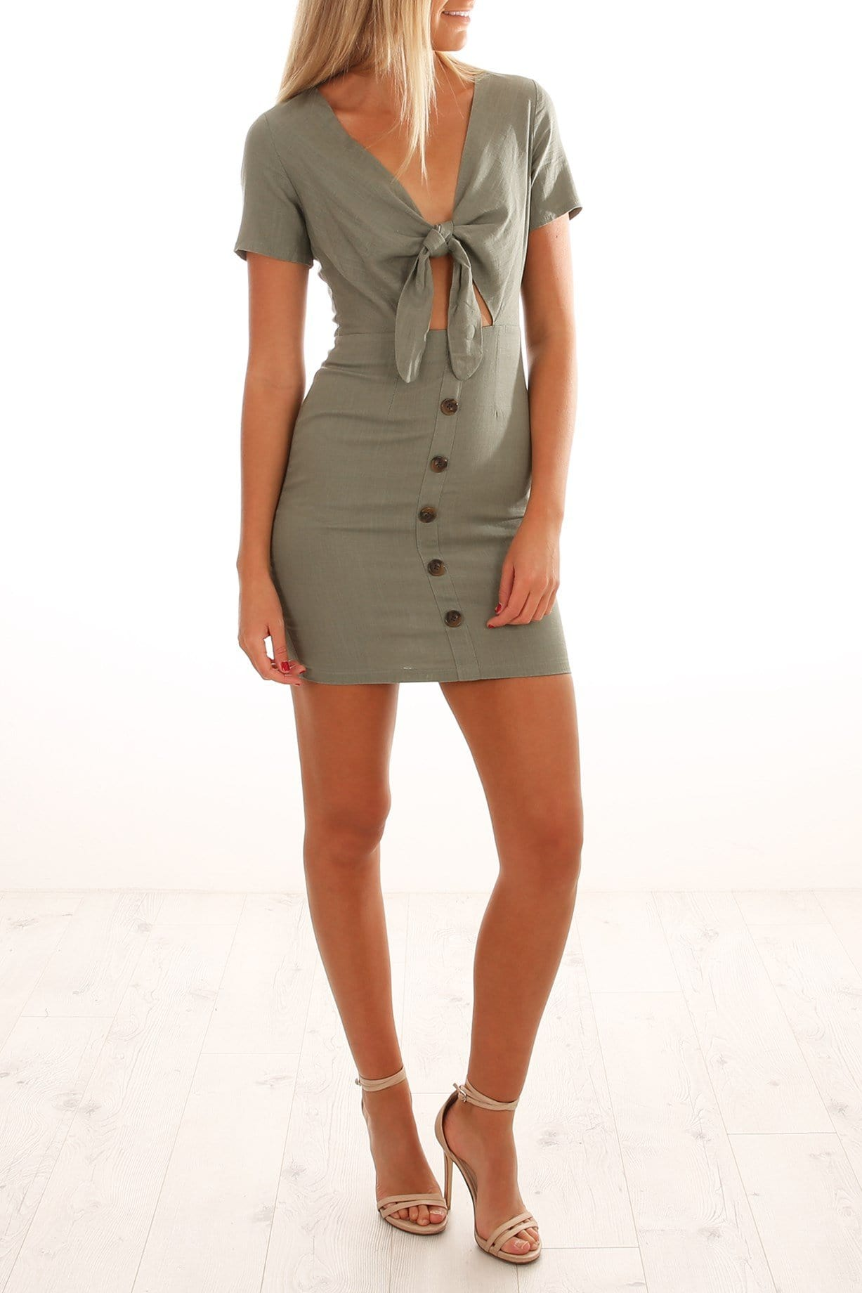 Fond Of You Dress Olive