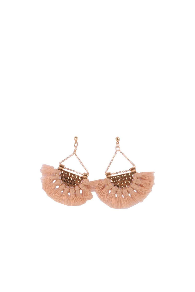 Carlie Earrings Beige Jean Jail - Jean Jail