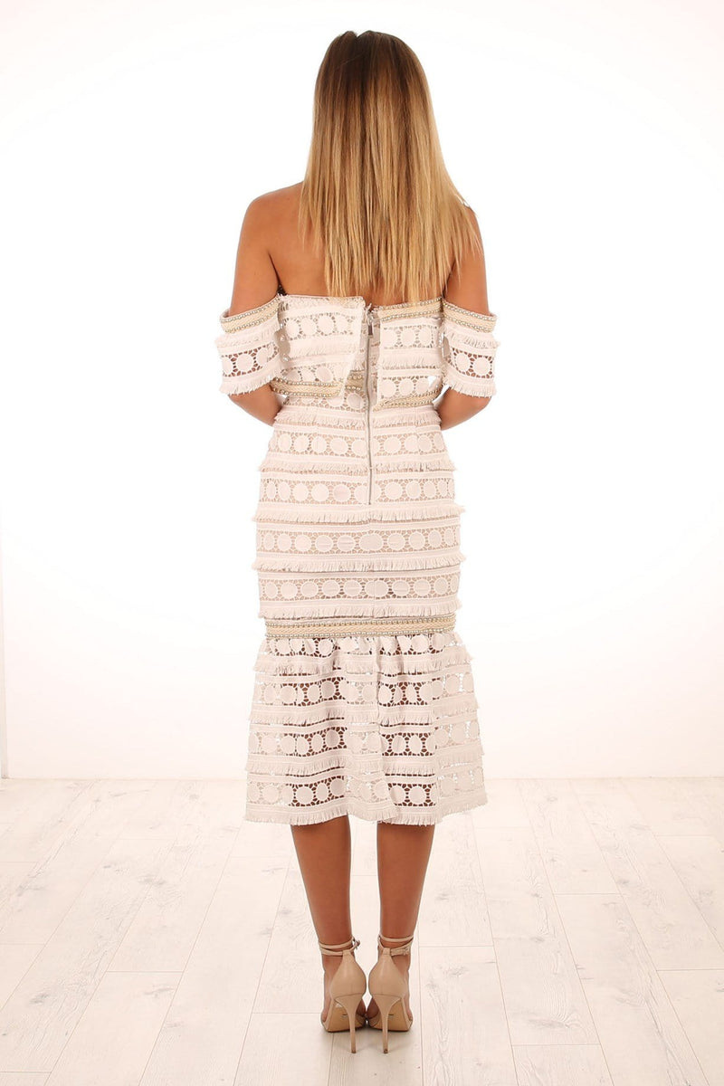 Midsummer Night Midi Dress White Prem The Label - Jean Jail