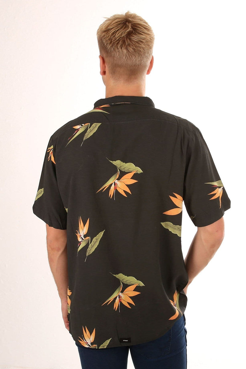 Bird Of Paradise Shirt Black Yardage