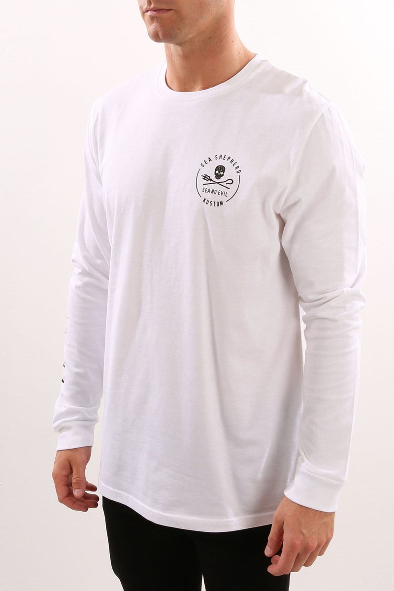 Sea Shepherd Neptunes Navy Long Sleeve White Kustom - Jean Jail