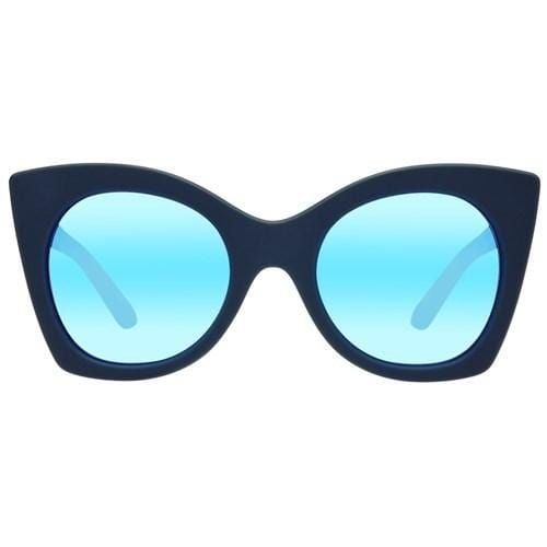 Savanna // Navy Rubber Icy Blue Mirror Le Specs - Jean Jail