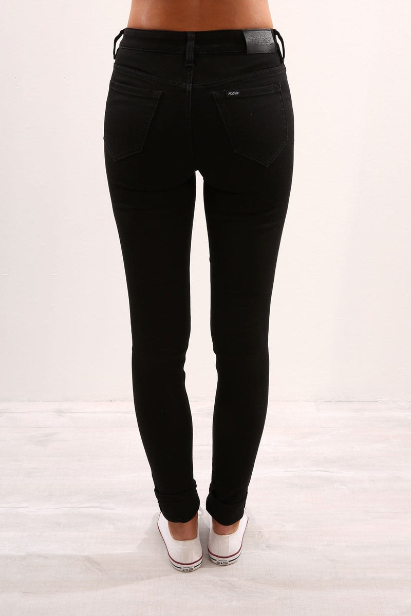 Riders - Mid Super Skinny Black Onyx Riders - Jean Jail