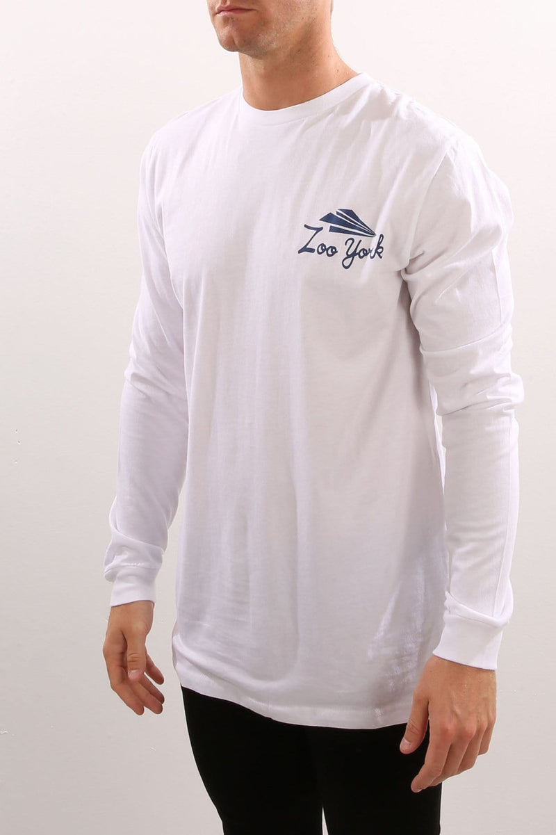 Drop Out Long Sleeve Tee White Zoo York - Jean Jail