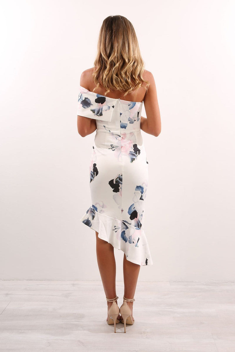 Pierre Dress White Floral