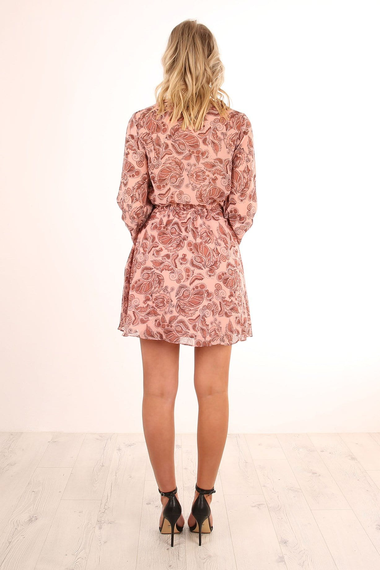 Siren Calls Dress Dusty Paisley Print
