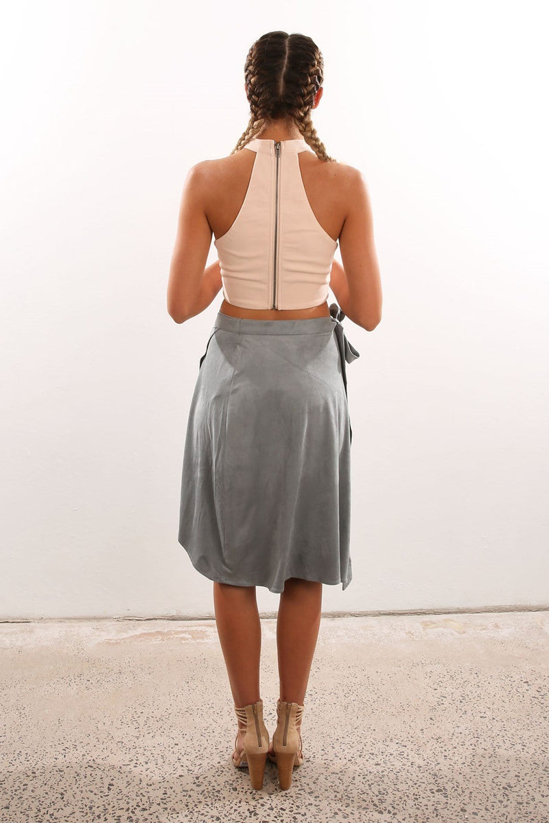 High Time Skirt Grey Finders Keepers - Jean Jail