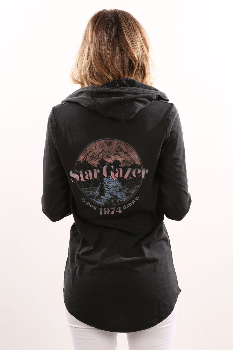 Star Gaze Long Sleeve Hoody Black All About Eve - Jean Jail