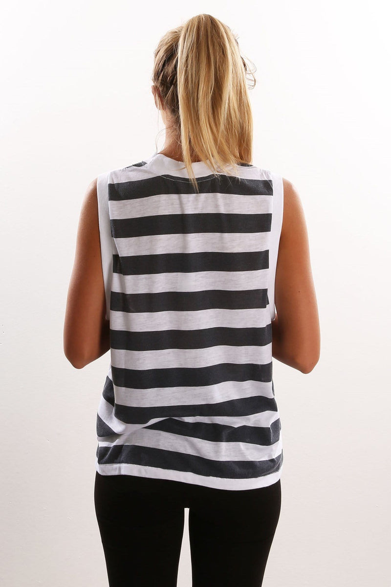 Stripe Muscle Black and white Rollas - Jean Jail