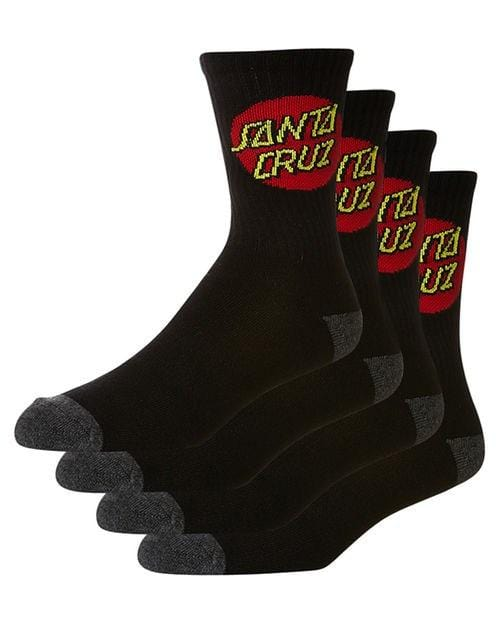Cruz Socks 4 Pack Black Santa Cruz - Jean Jail