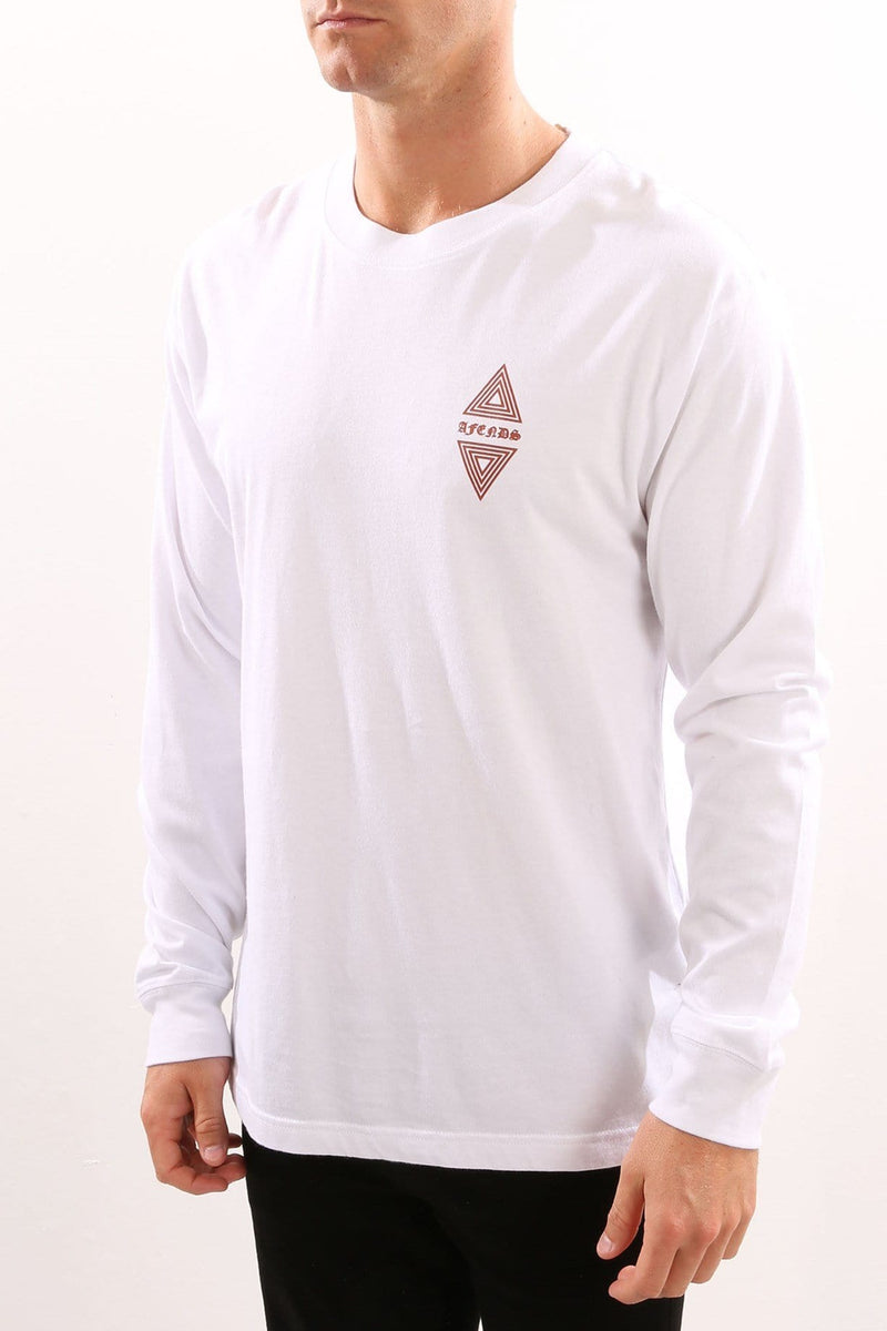Vava Long Sleeve Tee White Afends - Jean Jail
