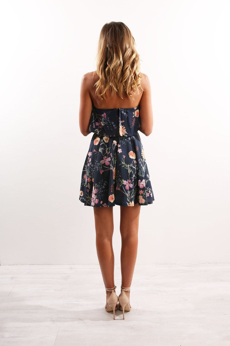 Dancing Flower Dress Navy Jean Jail - Jean Jail
