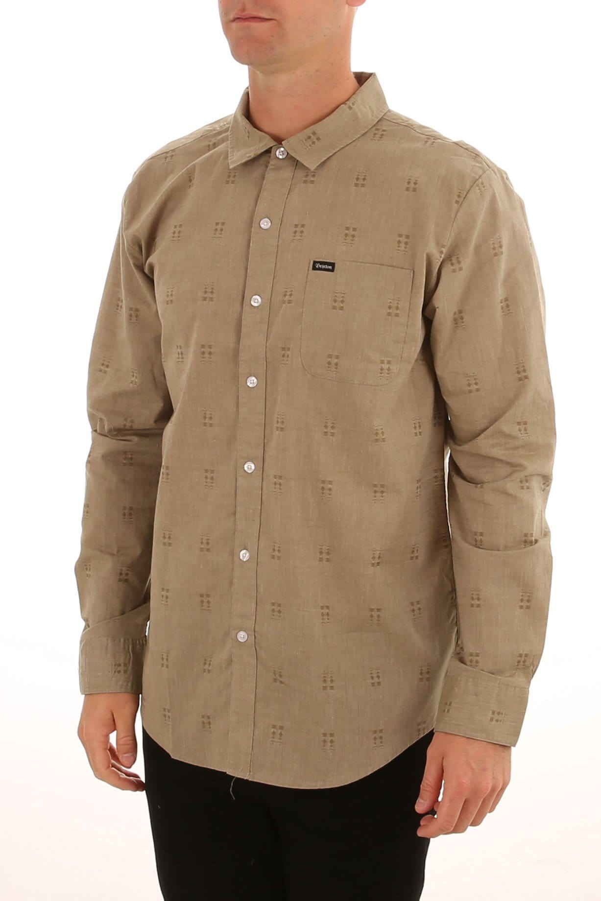 Charter Long Sleeve Woven Shirt Sage