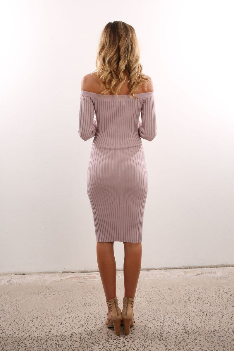 Aspen Knit Dress Mushroom Jean Jail - Jean Jail