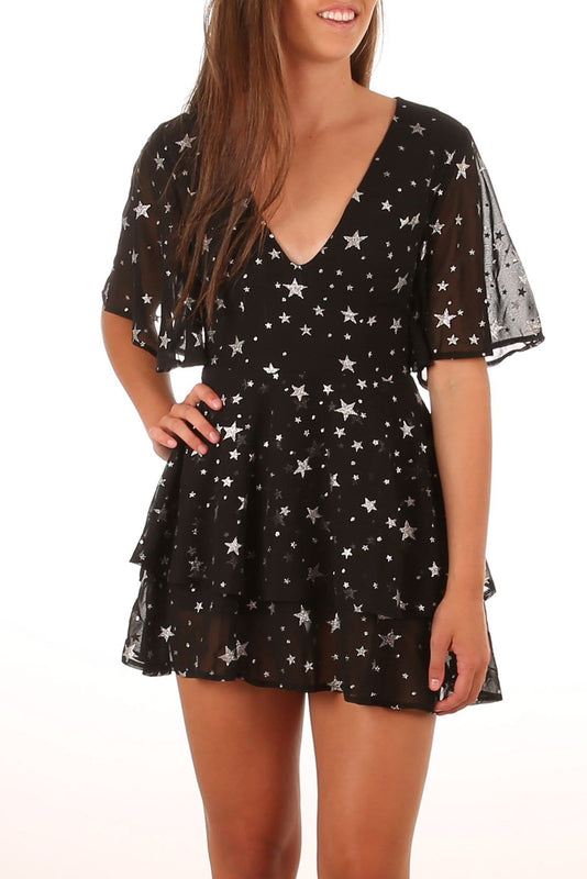 Brightest Star Dress Black