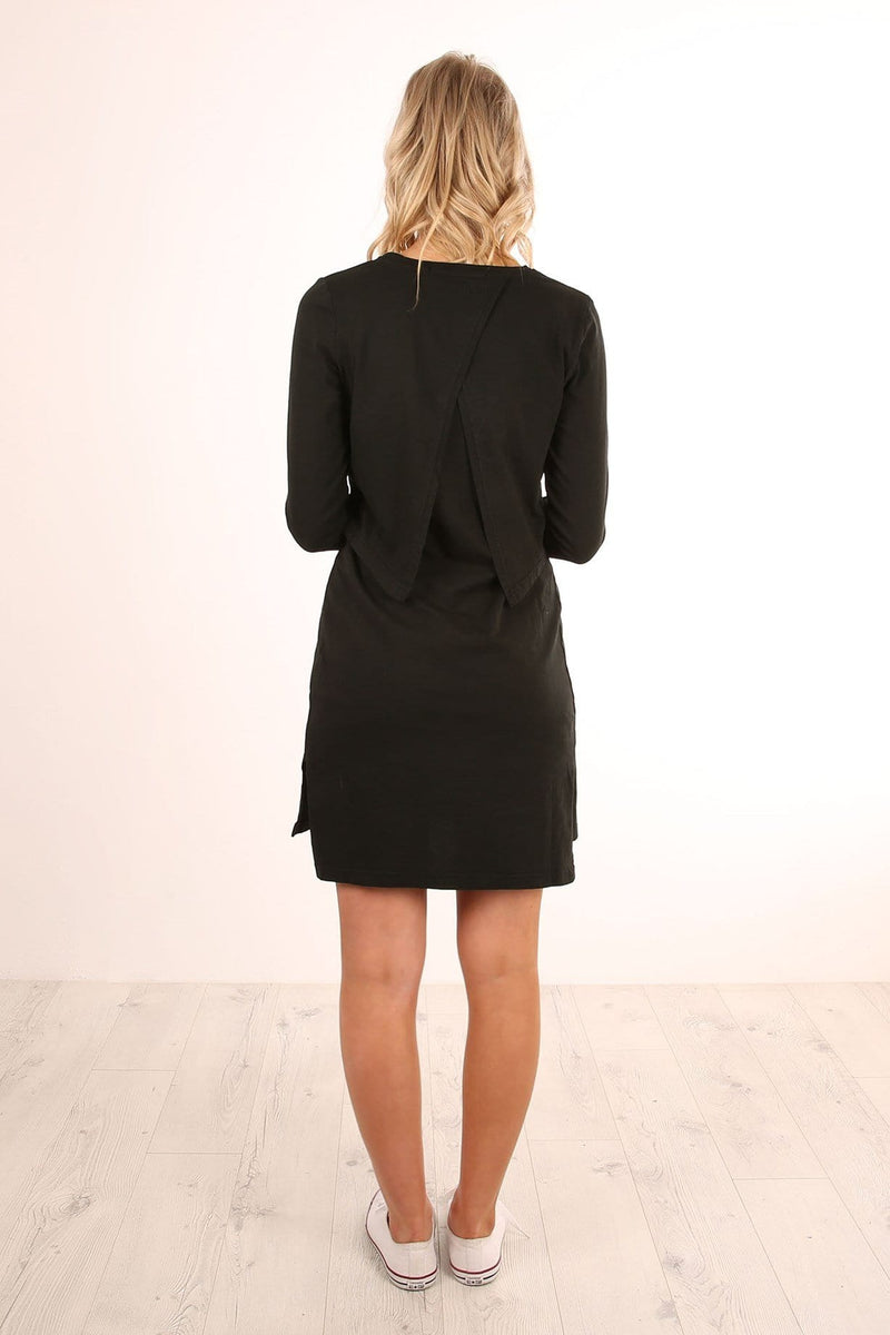 District Long Sleeve Dress Black Silent Theory - Jean Jail