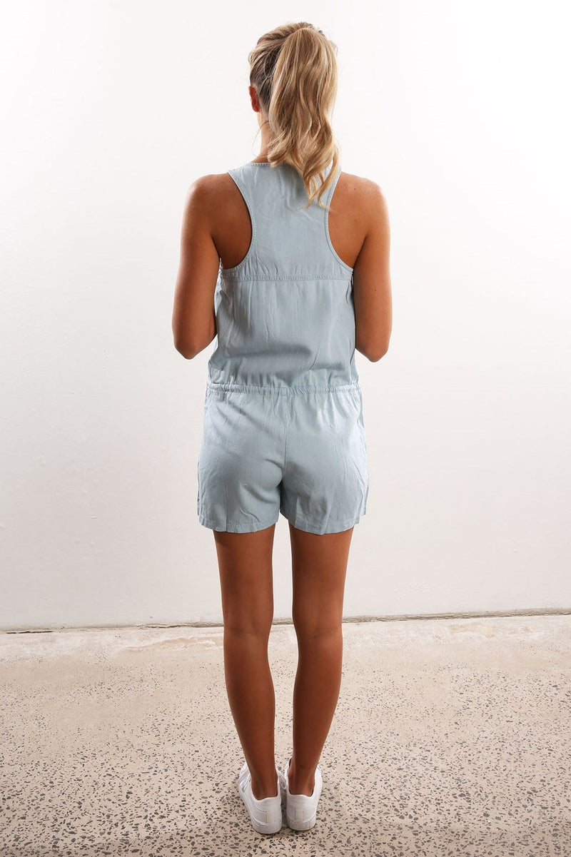 Sweetest Thing Playsuit Chambray Jean Jail - Jean Jail
