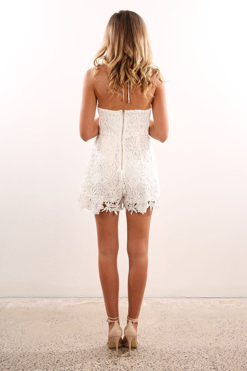 Carmelo Playsuit White