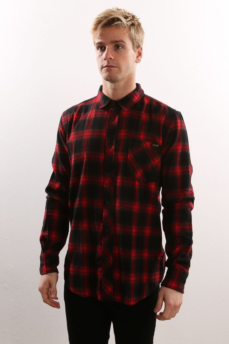 Feeder Flannel Shirt Red Zoo York - Jean Jail