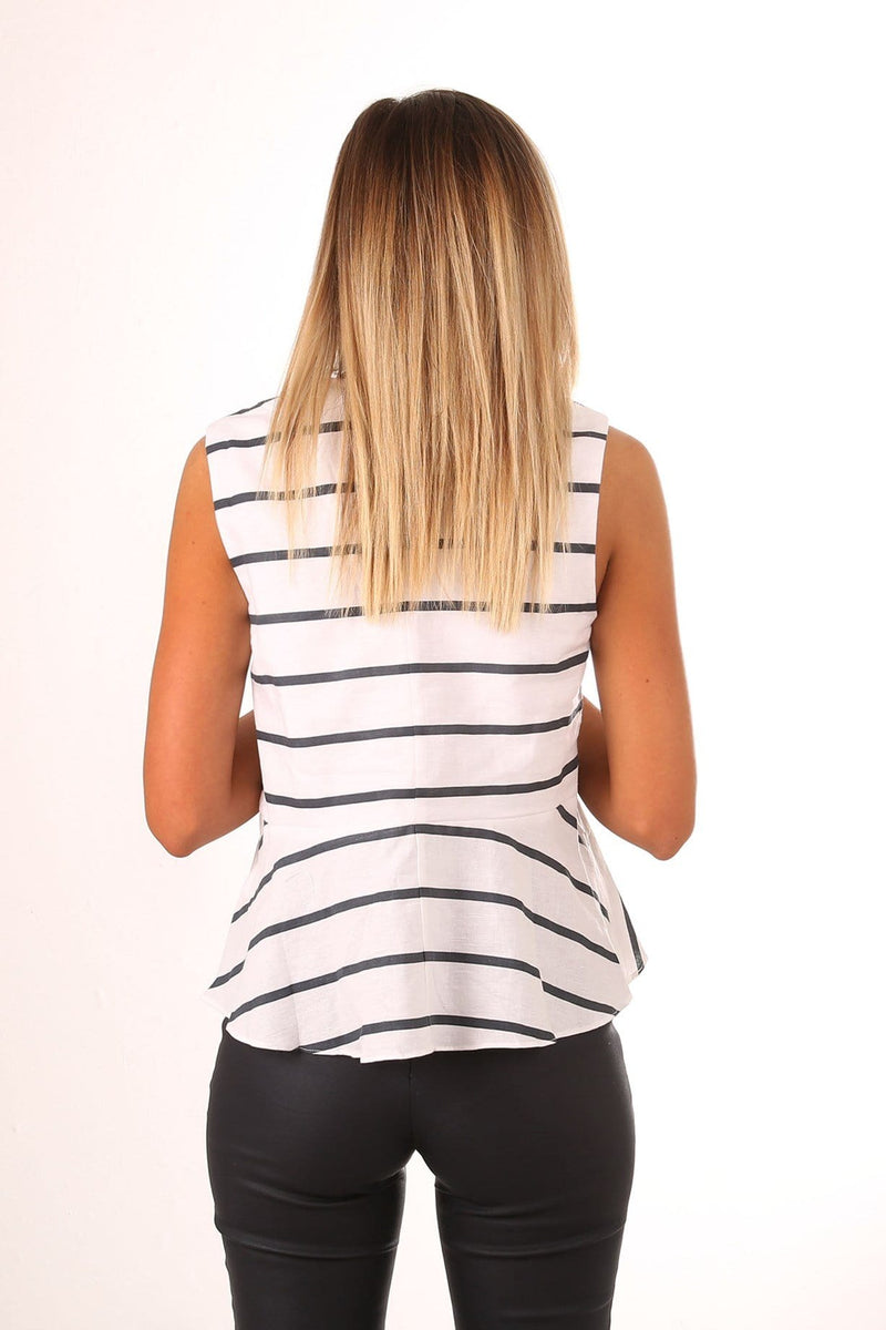 Morris Top White Navy Stripe Imonni - Jean Jail