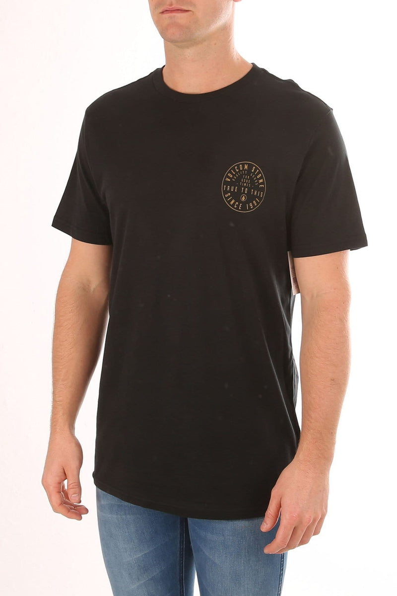 Aperture Short Sleeve Tee Black Volcom - Jean Jail