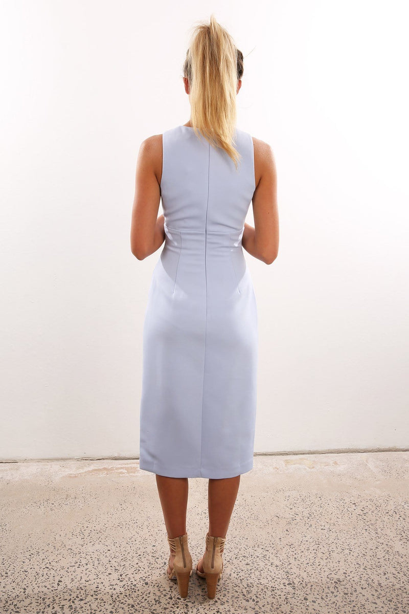 Enough Space Midi Dress Pale Blue Keepsake - Jean Jail