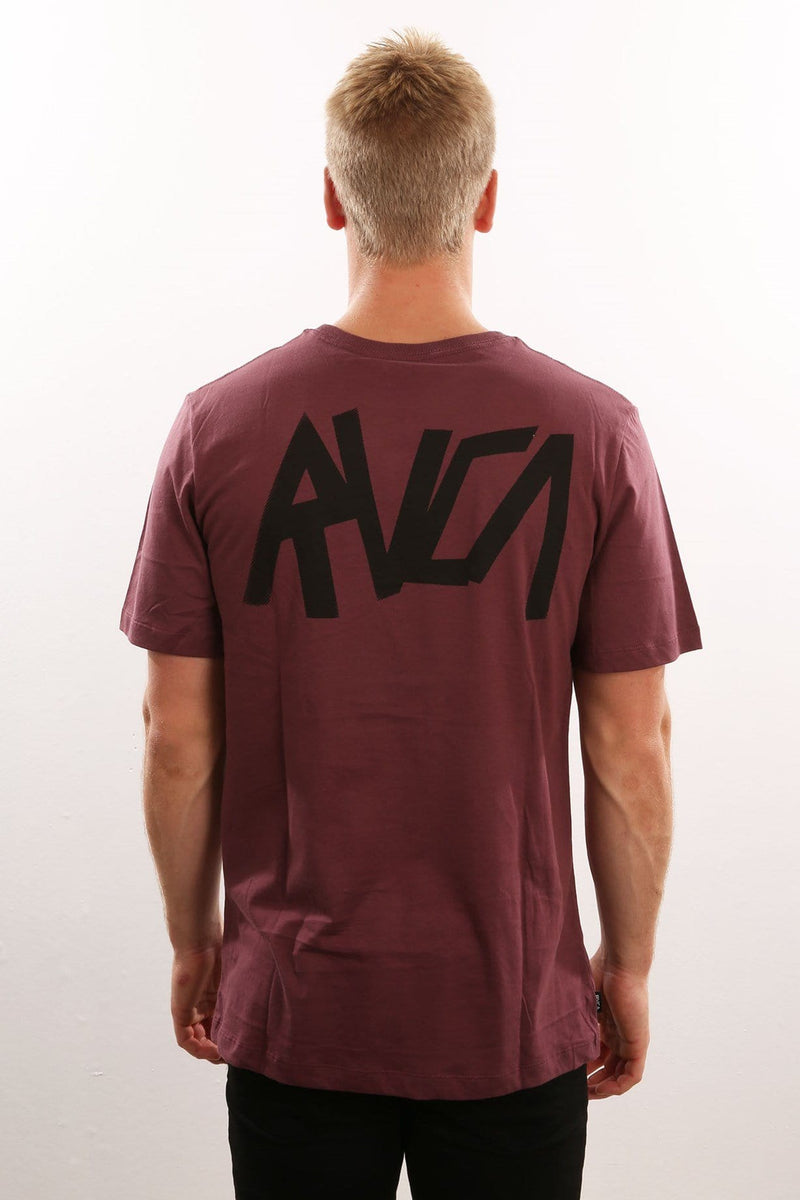 RVCA Slayer Tee Plum Fade RVCA - Jean Jail