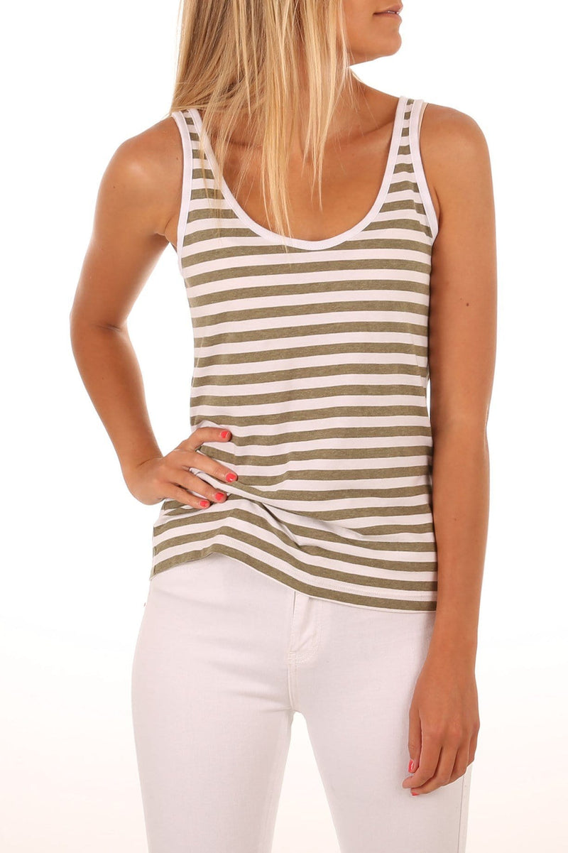 Essentials Tank Olive Rhythm - Jean Jail