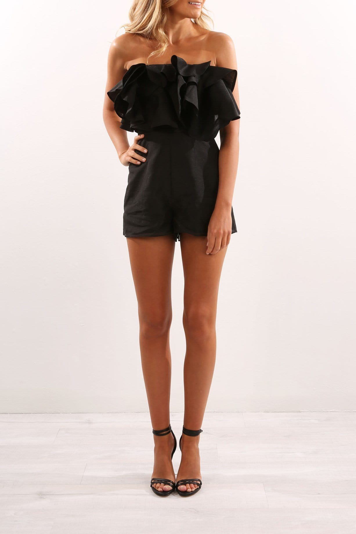 Lost Lover Playsuit Black