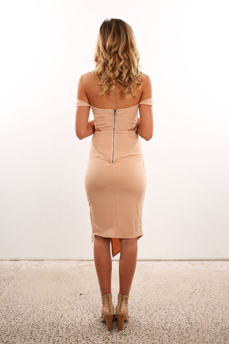 Tangled Dress Nude Jean Jail - Jean Jail