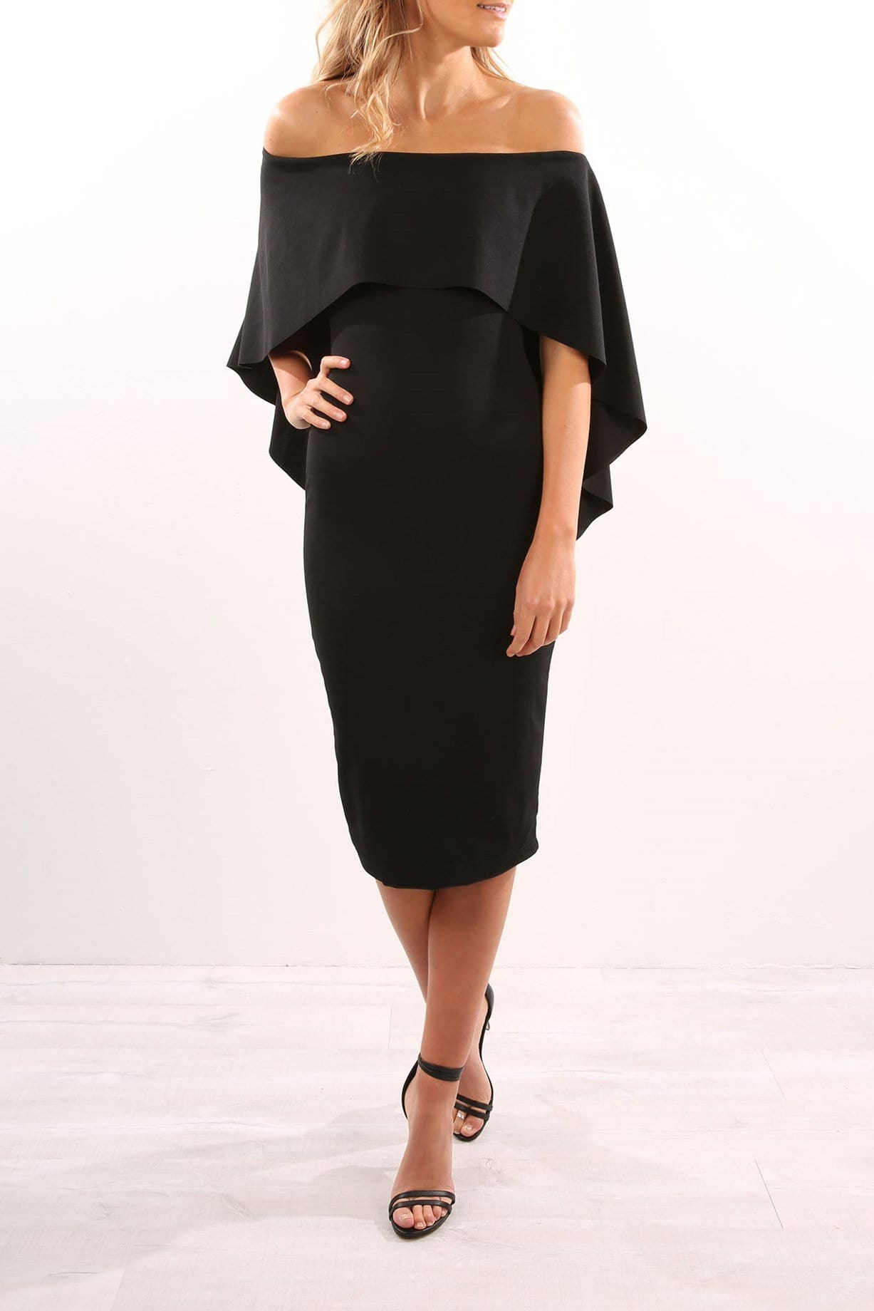 Composure Midi Dress Black