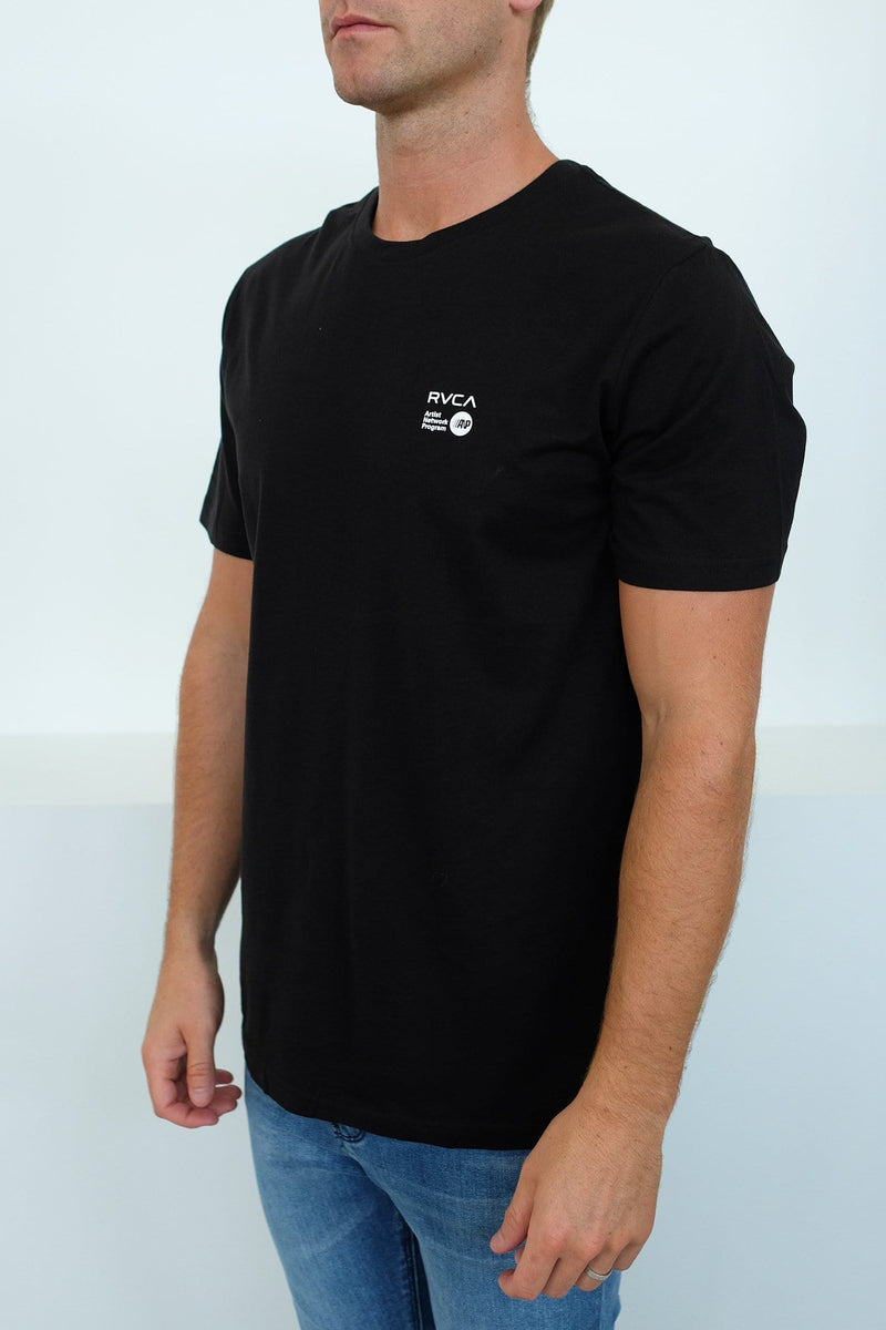 ANP Christian Fletcher Short Sleeve Tee Black RVCA - Jean Jail
