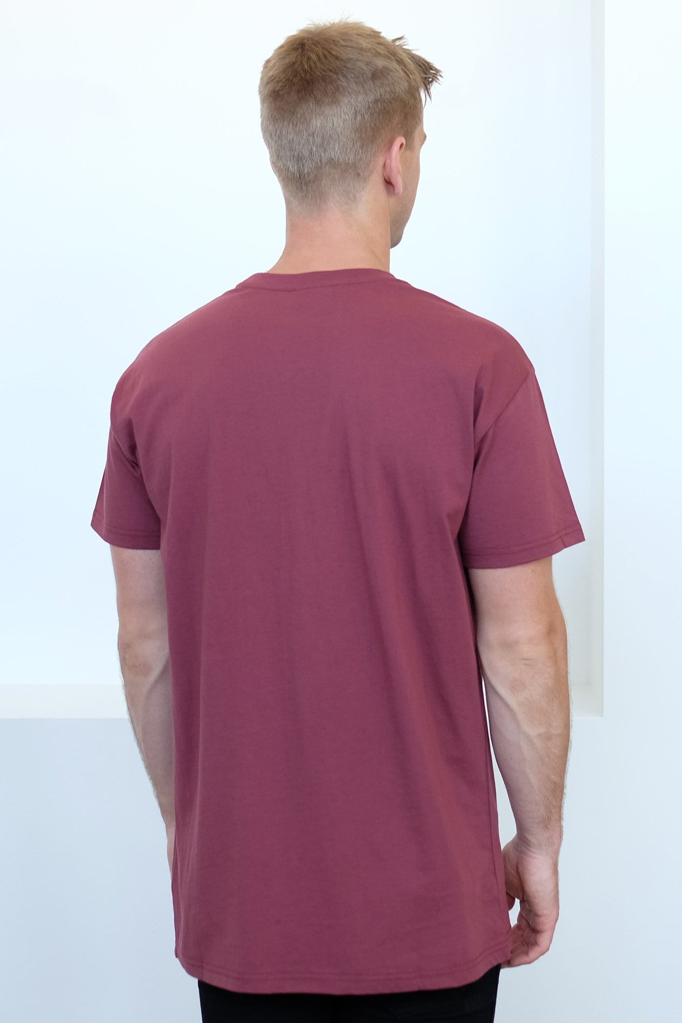 Accent Custom Fit Tee Burgundy