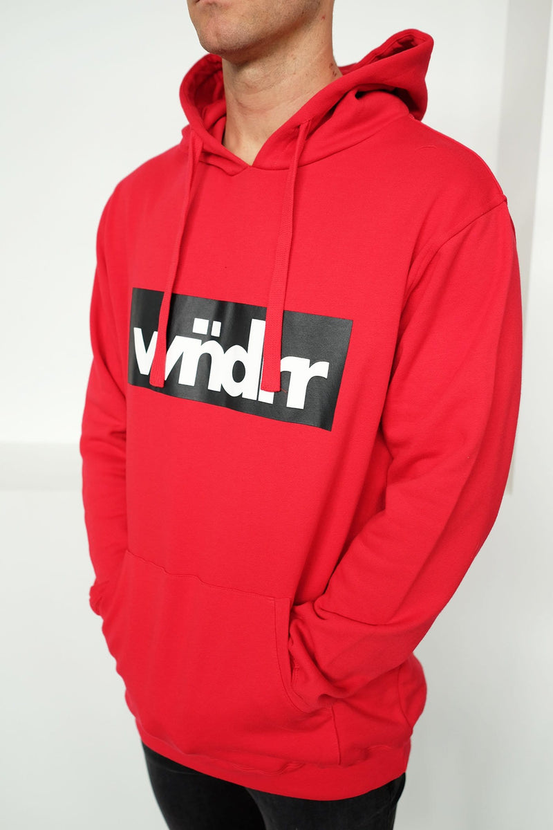 Accent Hood Sweat Red WNDRR - Jean Jail