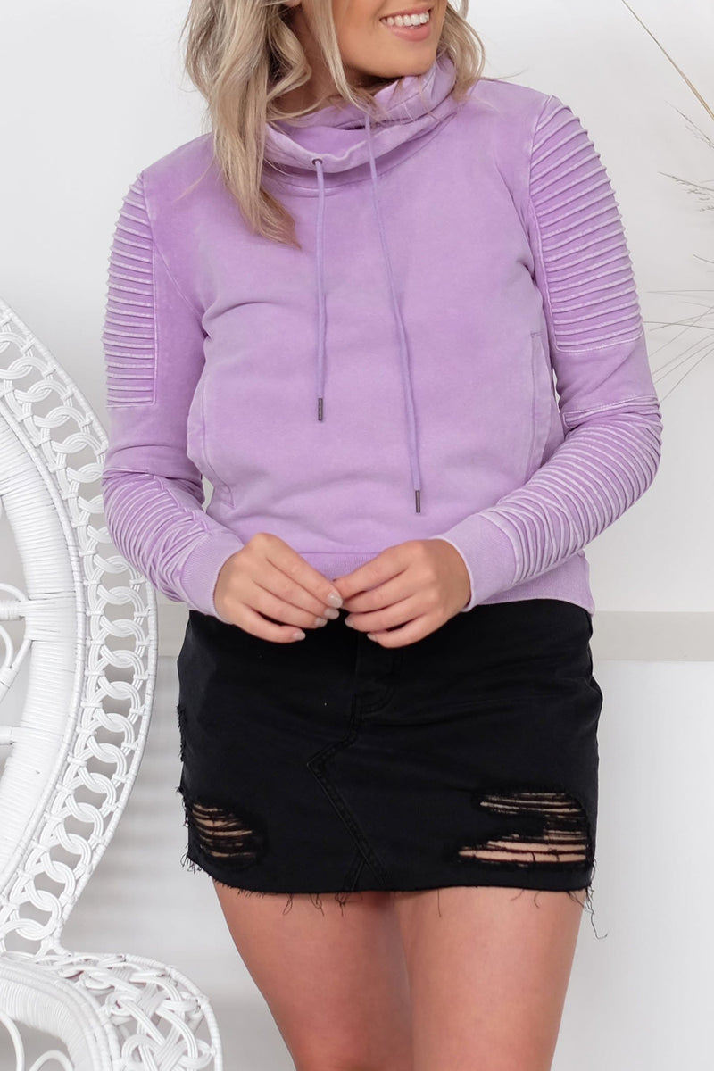 Adeline Sweater Acid Lilac