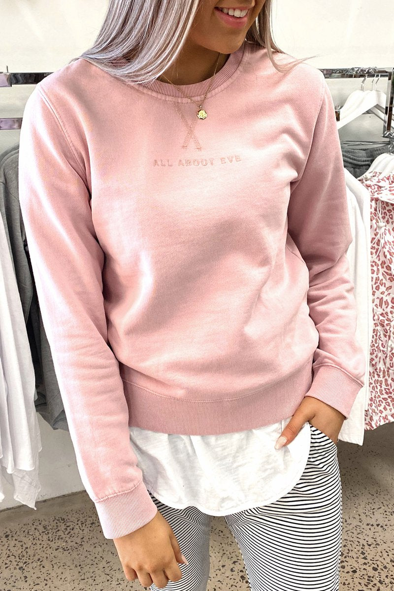 Sample - All About Eve Washed Crew Pink
