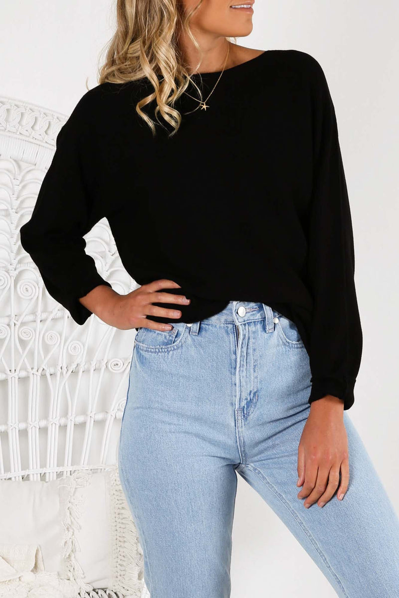 Alli Jumper Black Jean Jail - Jean Jail