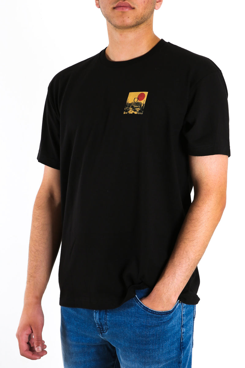 Alpha Block Short Sleeve Standard Tee Black Blonde