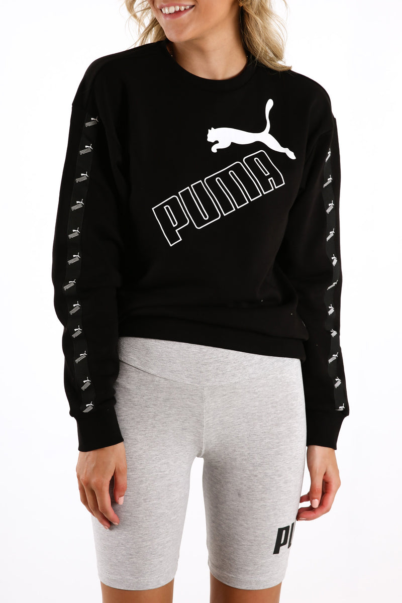 Amplified Crew Neck Sweatshirt Puma Black