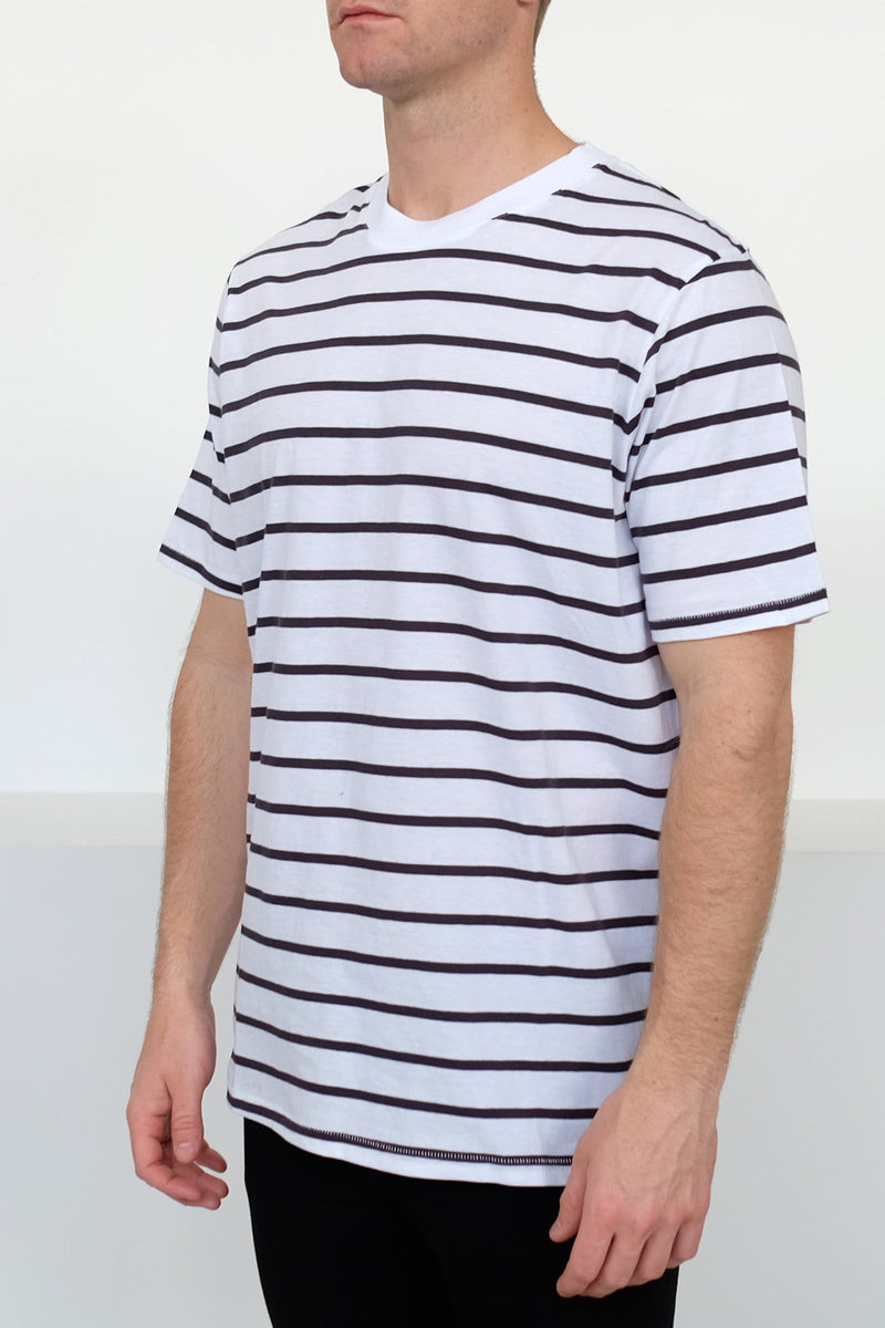 Andre Tee Worn Navy Stripe Assembly Label - Jean Jail