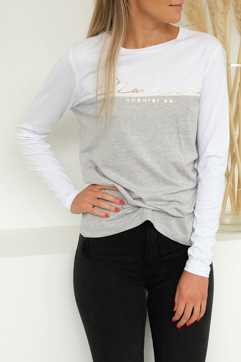 Anne Long Sleeve Tee White Elwood - Jean Jail