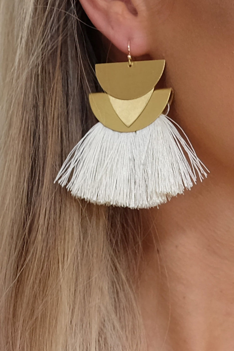 Ayliah Earrings Cream Jean Jail - Jean Jail
