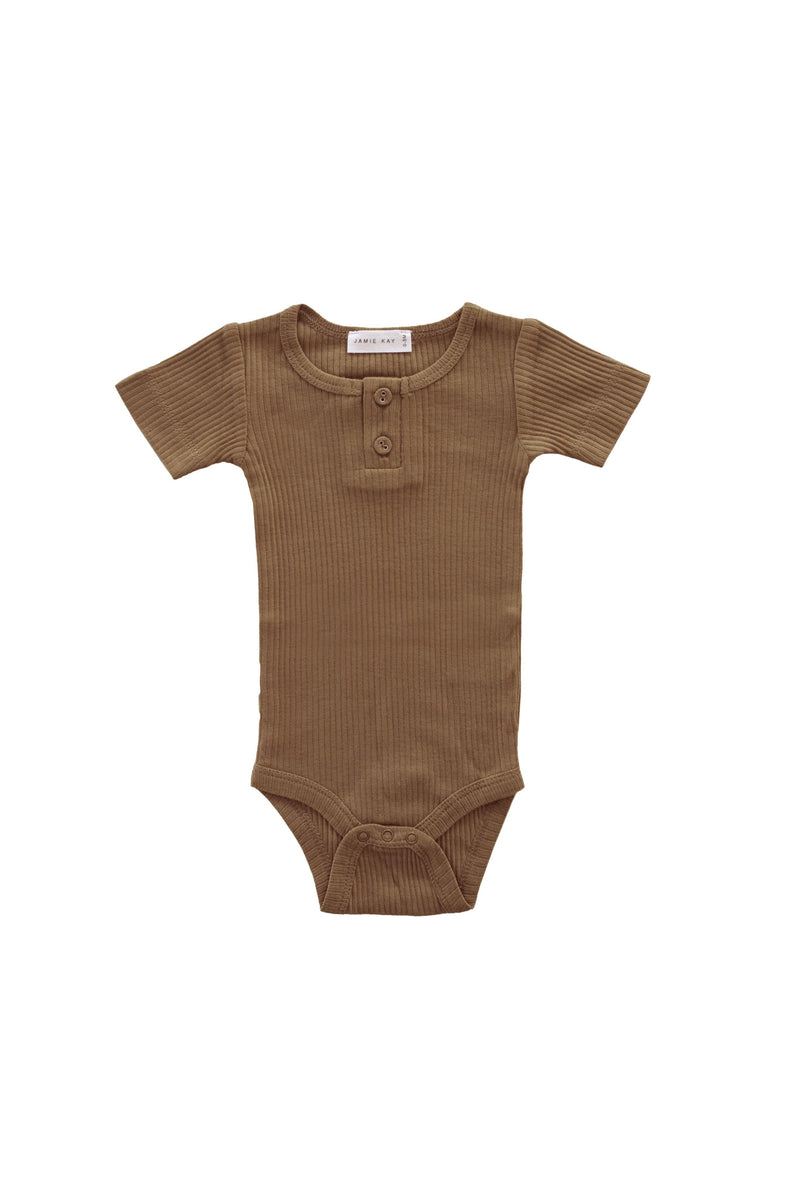 Original Cotton Modal Short Sleeve Tee Bodysuit Bronze