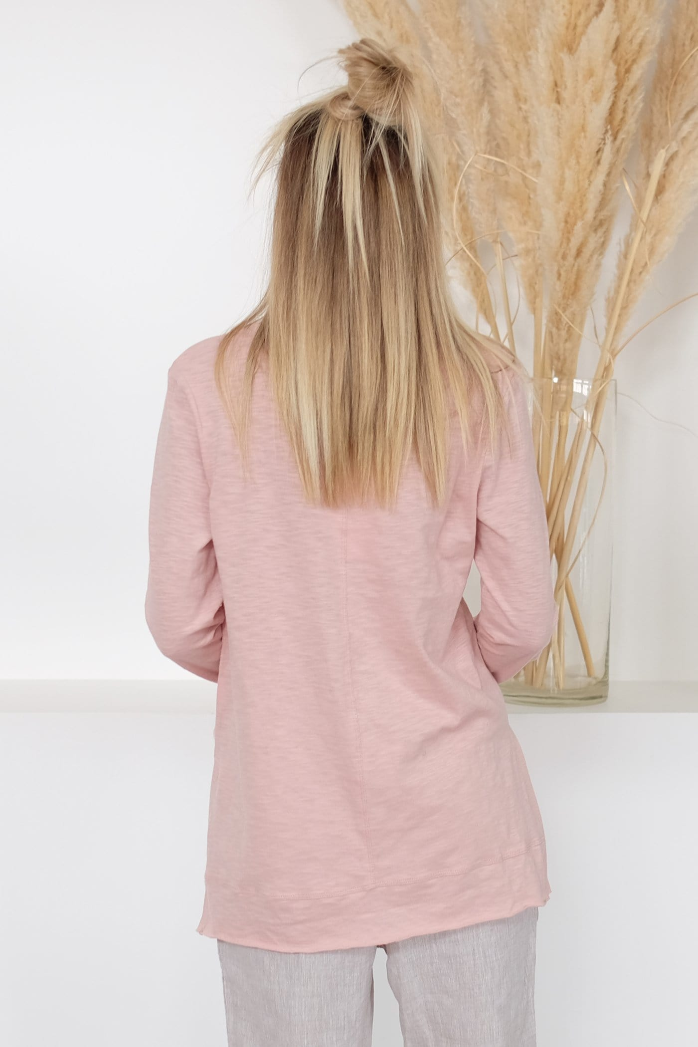 Back Down Long Sleeve Tee Blush