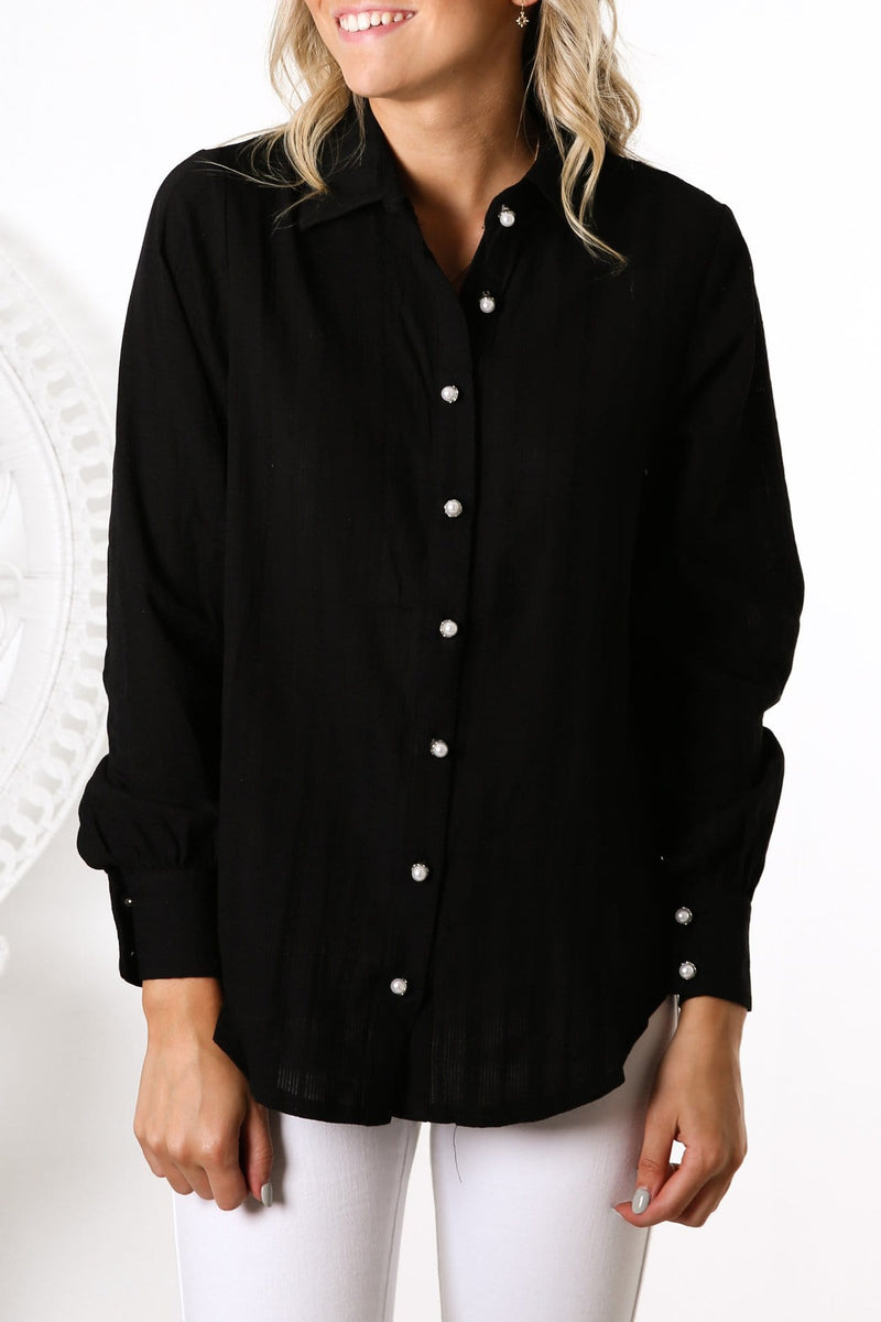 Back To Life Long Sleeve Shirt Black