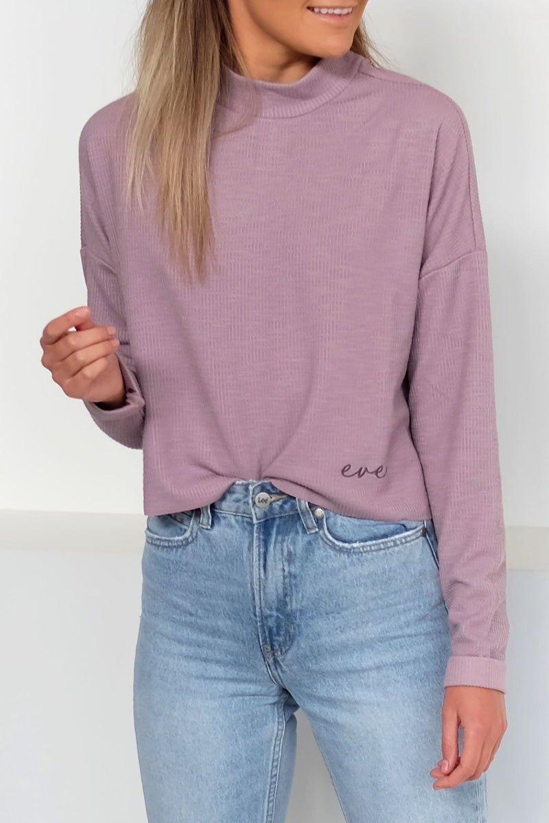 Bailey Textured Sweater Mauve All About Eve - Jean Jail