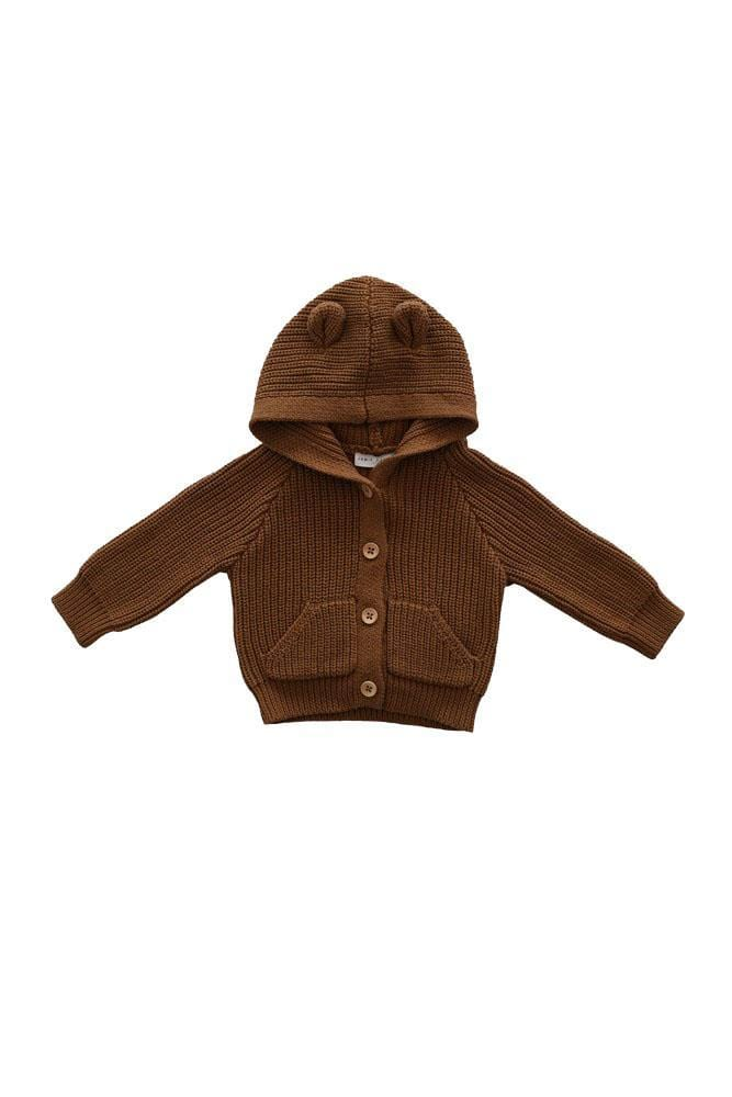 Bear Cardigan Camel