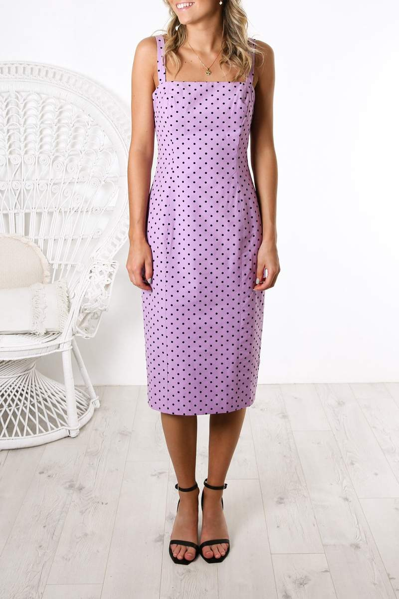 Sample - Beautiful Stranger Dress Lilac Polka Dot