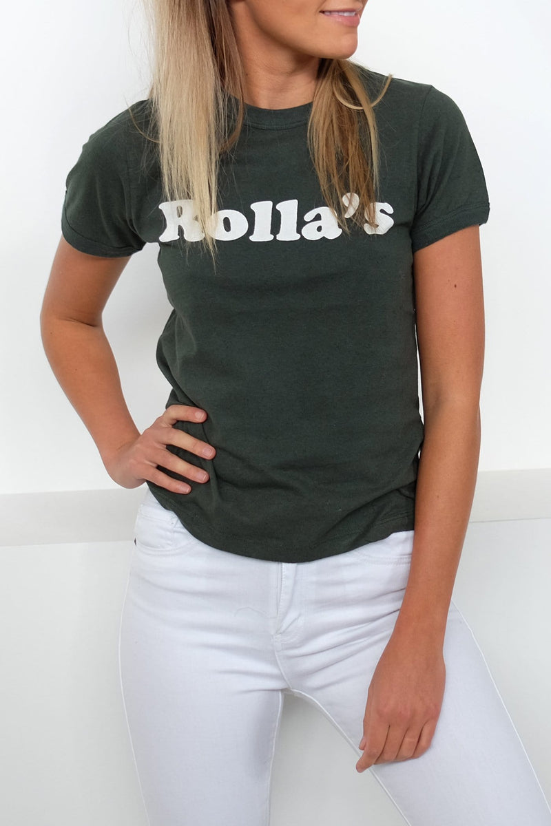 Big Logo Tee Green Rollas - Jean Jail