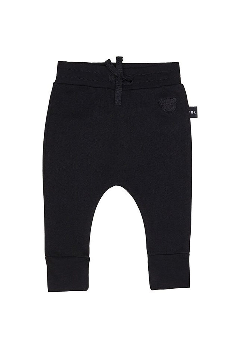 Black Drop Crotch Fleece Pant Black